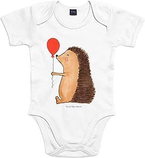 Mr. & Mrs. Panda Mr. & Mrs. Panda Bodysuit, Strampler, 3-6 Monate Baby Body Igel mit Luftballon - Farbe Transparent
