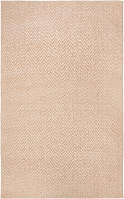 Safavieh Natural Fiber Collection NFB123B Hand-woven Jute & Cotton Area Rug, 4' x 6', Beige