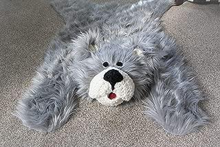 Woodland Nursery Grey Bear Rug Decor (34 X 49 inches) Teddy Milestones Mat