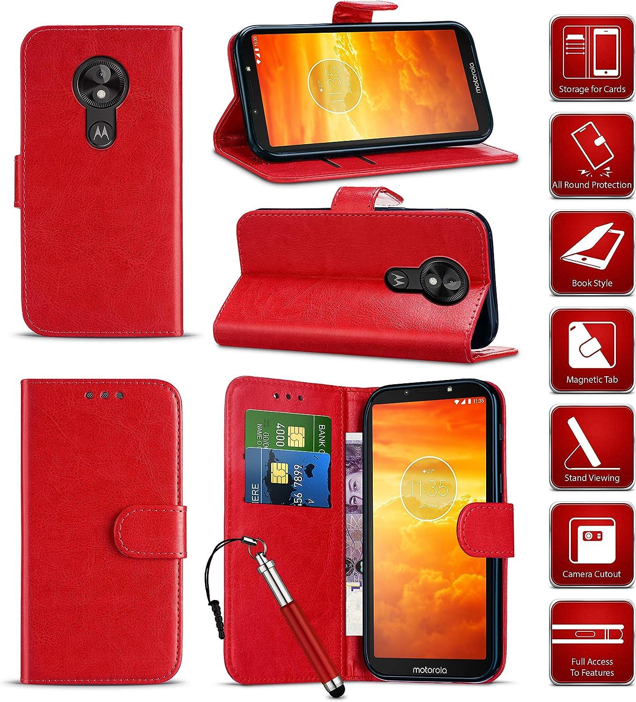 Magnetic Closure Motorola Moto E3 Case Premium Leather Flip Wallet and Phone Case with Card Holder Slots Kickstand Notebook Shockproof Case for Motorola Moto E3 // XT1700 Dark Blue