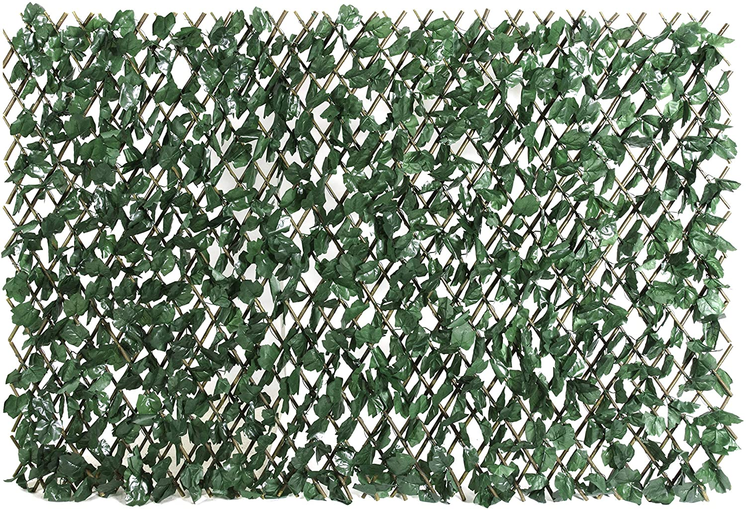 ColourTree Expandable Rectractable Faux Artificial Ivy Trellis Hedge Fence  Screen Privacy Wall Screen   Commercial Grade 20 GSM   Heavy Duty   20 ...