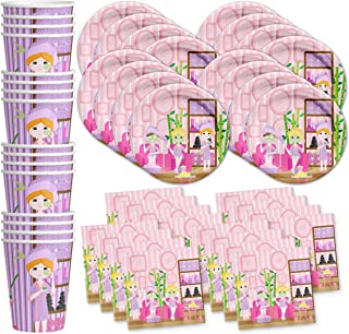 Spa Salon Birthday Party Supplies Set Plates Napkins Cups Tableware Kit for 16 by Birthday Galore