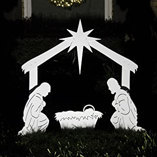 Teak Isle Outdoor Nativity Scene - Holy Family Yard Nativity Set