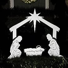 Teak Isle Outdoor Nativity Scene - Holy Family Yard Nativity Set