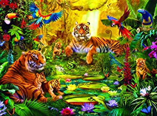 Buffalo Games - Signature Collection - Tiger Family in the Jungle - 1000 Piece Jigsaw Puzzle