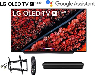 LG OLED65C9PUA C9 65 inch Class 4K Smart OLED TV w/AI ThinQ Bundle w/Sonos Beam Soundbar w/Flat Mount and HDMI Cable