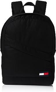 حقيبة ظهر رياضية رجالية بلون أسود من تومي هيلفيغر تناسب الجنسين 12.7×43×31 سم (B × H × T) (AM0AM03588)