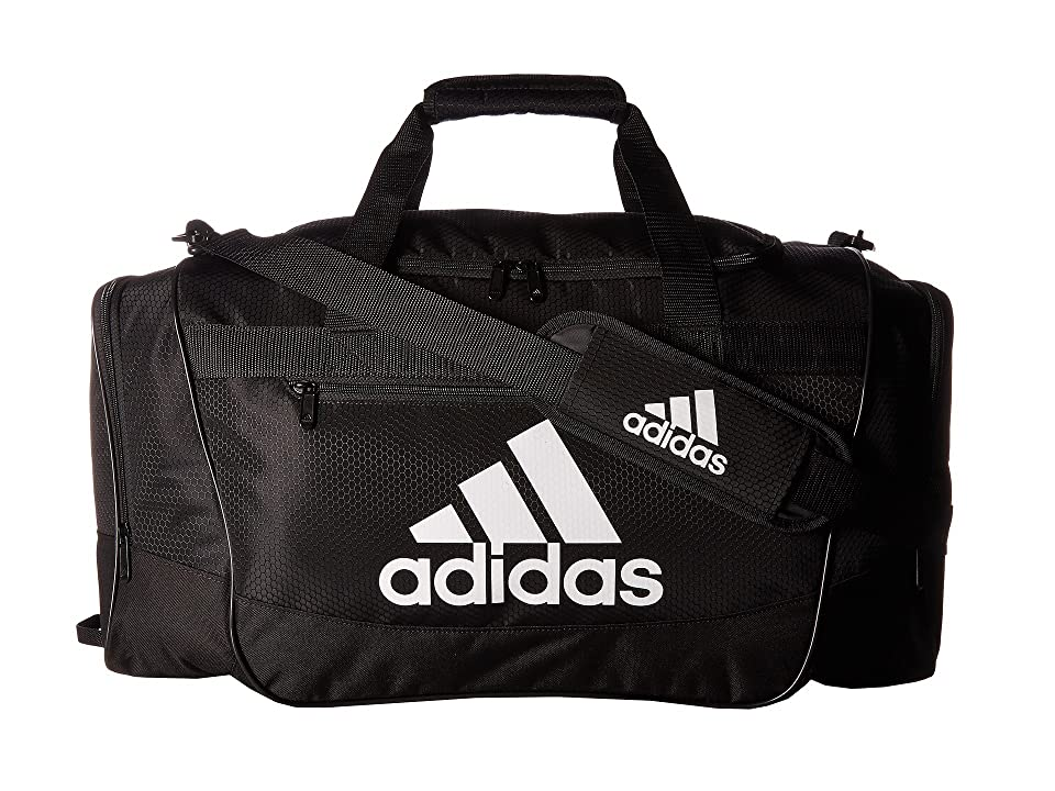 adidas Defender III Medium Duffel (Black/White) Bags