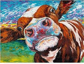 Trademark Fine Art Curious Cow I by Carolee Vitaletti, 24x32