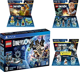 Lego Dimensions Starter Pack + Portal 2 Level Pack + Scooby Doo Team Pack + Jurassic World Team Pack for Playstation 4 or PS4 Pro Console