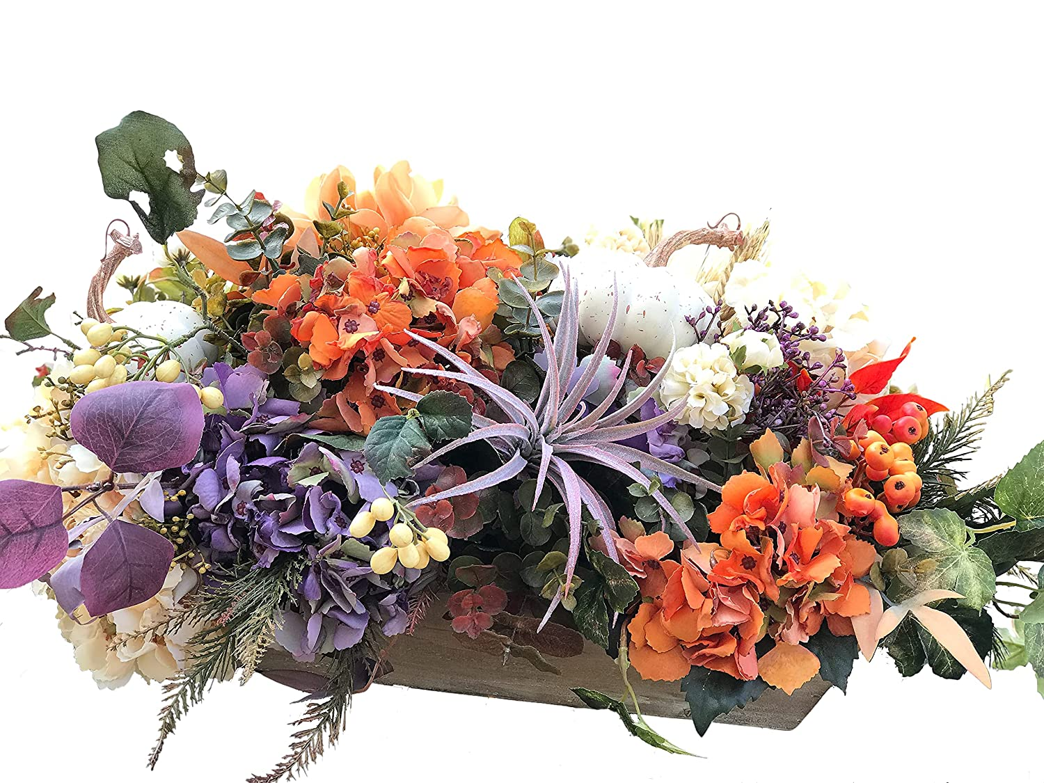Hydrangea Autumn Floral Center Selling and selling Piece Max 72% OFF ce arrangement Fall Flower