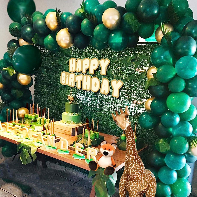Jungle Theme Party Supplies :143pcs Green Balloon Garland Arch K