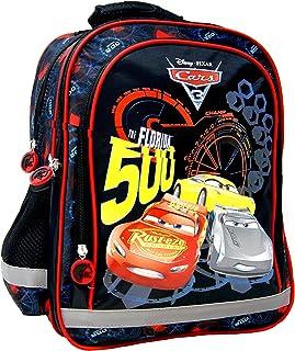 Disney Cars 3 The Florida 500 - Mochila escolar (38 x 29 x 17 cm, apta para DIN A4), diseño de Rayo McQueen y Jackson Storm y Cruz Ramírez, para escuela, deporte y ocio