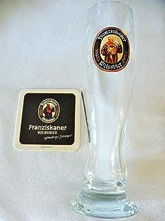 Franziskaner Weissbier Wheatbeer Glass and Coaster Set