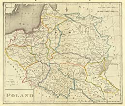 Vintage Map - 1814 Poland - Historic Poster Art Reproduction - 29in x 24in