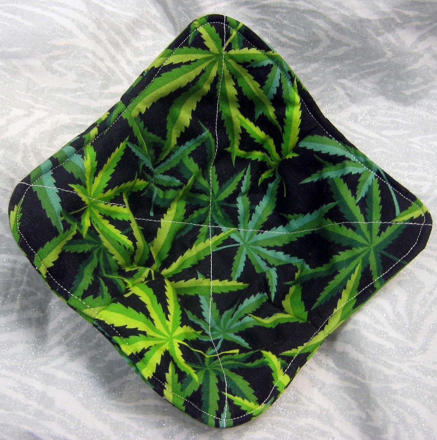 Microwavable Bowl Potholder Marijuana Cannabis Pot Leaf Pattern 100% Cotton 420
