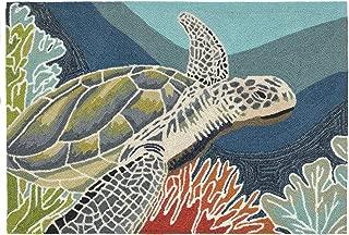 Liora Manne Ravella Coastal Akumal Sea Turtle Indoor/Outdoor Rug, 2'6