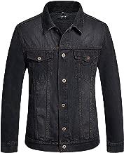 SSLR Men's Classic Solid Button Down Denim Jacket