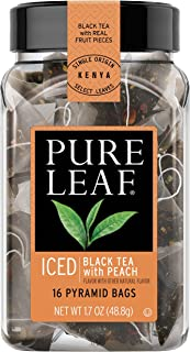 Pure Leaf Iced Tea Bags, Black Tea with Peach, 16 ct Pack of 6