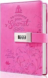دفتر خاطرات قفل قفل مخزن قفل مخزن قفل مجله ناز نوشتن نوت بوک دفتر خاطرات قفل شخصی قابل شارژ مجدد برای دختران گل سرخ