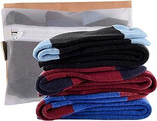 Juego de 3 pares de calcetines de esquí para niños, de manga larga, para invierno, talla Junior UK 1-6, Europa 33-39, negro, azul, burgandy