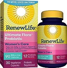 Renew Life Women's Probiotic - Ultimate Flora Women's Care, Probiotic Supplement - Gluten, Dairy & Soy Free - 90 Billion CFU - 30 Vegetarian Capsules