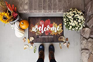 Qualtry Outdoor Fall Decor Outside Door Mat, Personalized Designs Available - Holiday Doormat Decoration (Medium Size 24