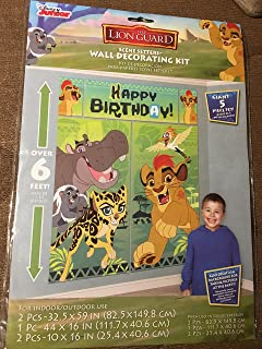 amscan Disney The Lion Guard Scene Setters Wall Decorating Kit, Birthday