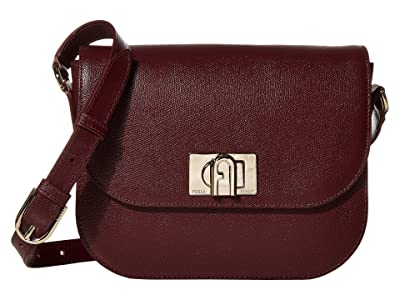 Furla 1927 Small Crossbody 23 (Burgundy) Handbags