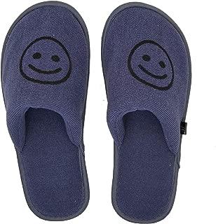 MF Emoji Slippers for Boys Kids Close Toe Slippers for Indoor Winter Slipper Comfortable Smile Emoji Playtime Kids Room