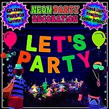 Glow Paper Straws Glow GLOWstraws103 Neon Birthday Decorations Glow Party Decorations Neon Party Decorations Glow Party Decorations