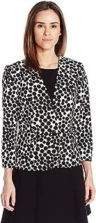 Kasper Women's 1 Button Gumball Printed Crepe Jacket