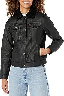 Levi's Women's Sherpa Faux Leather Trucker Jacket (Standard & Plus Sizes)