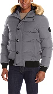 Men's Shorty Snorkel Quilted Hoody Bomber