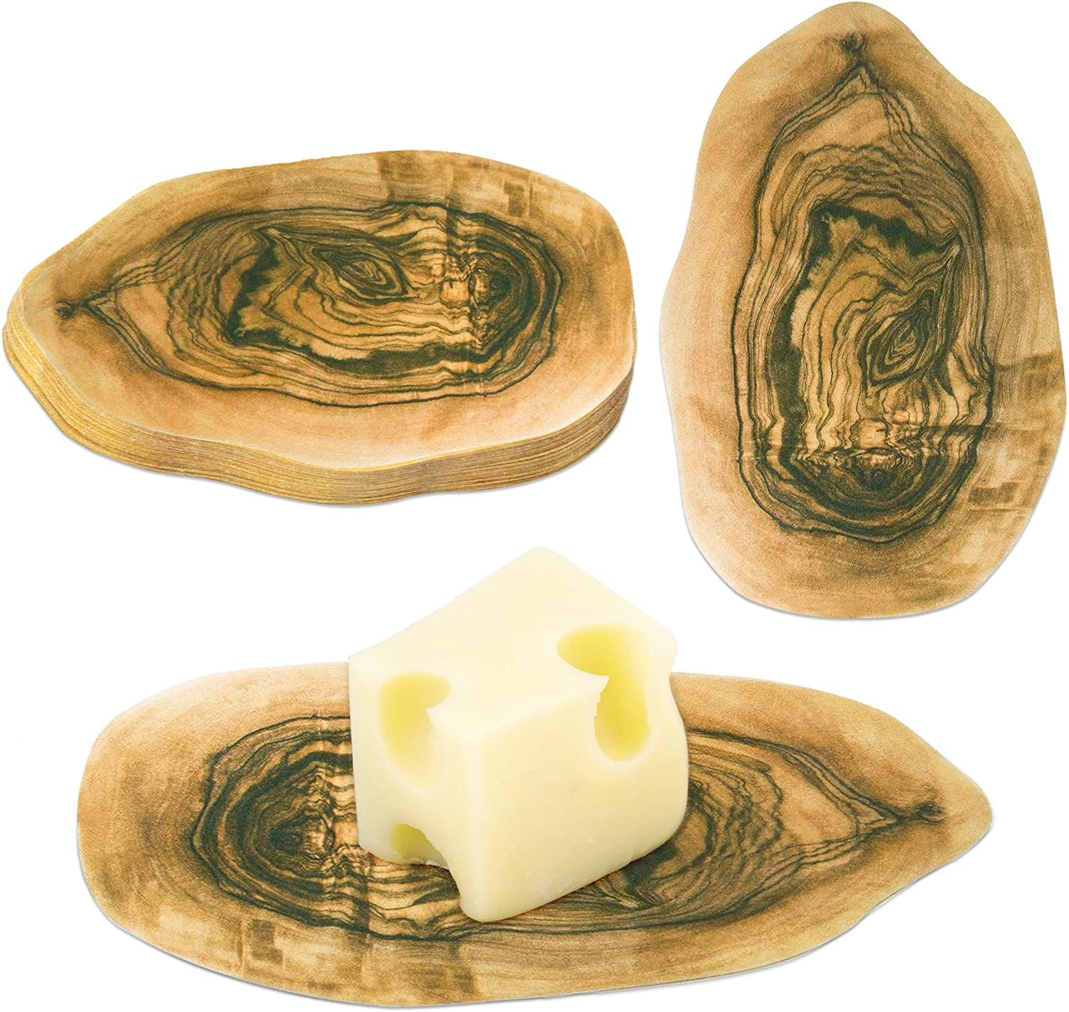 250 Pack [Alternative dealer] Olive Wood Cheese Paper 4 x Charcuterie 2 favorite Boards- for