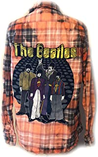 Beatles Reclaimed Vintage Flannel Top - One of a Kind