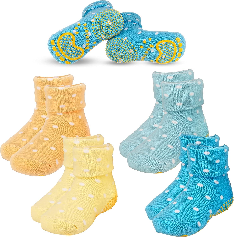 Anti Slip Socks | Non Toxic Silicon Grip For 1-7 Years Baby Toddler Kid