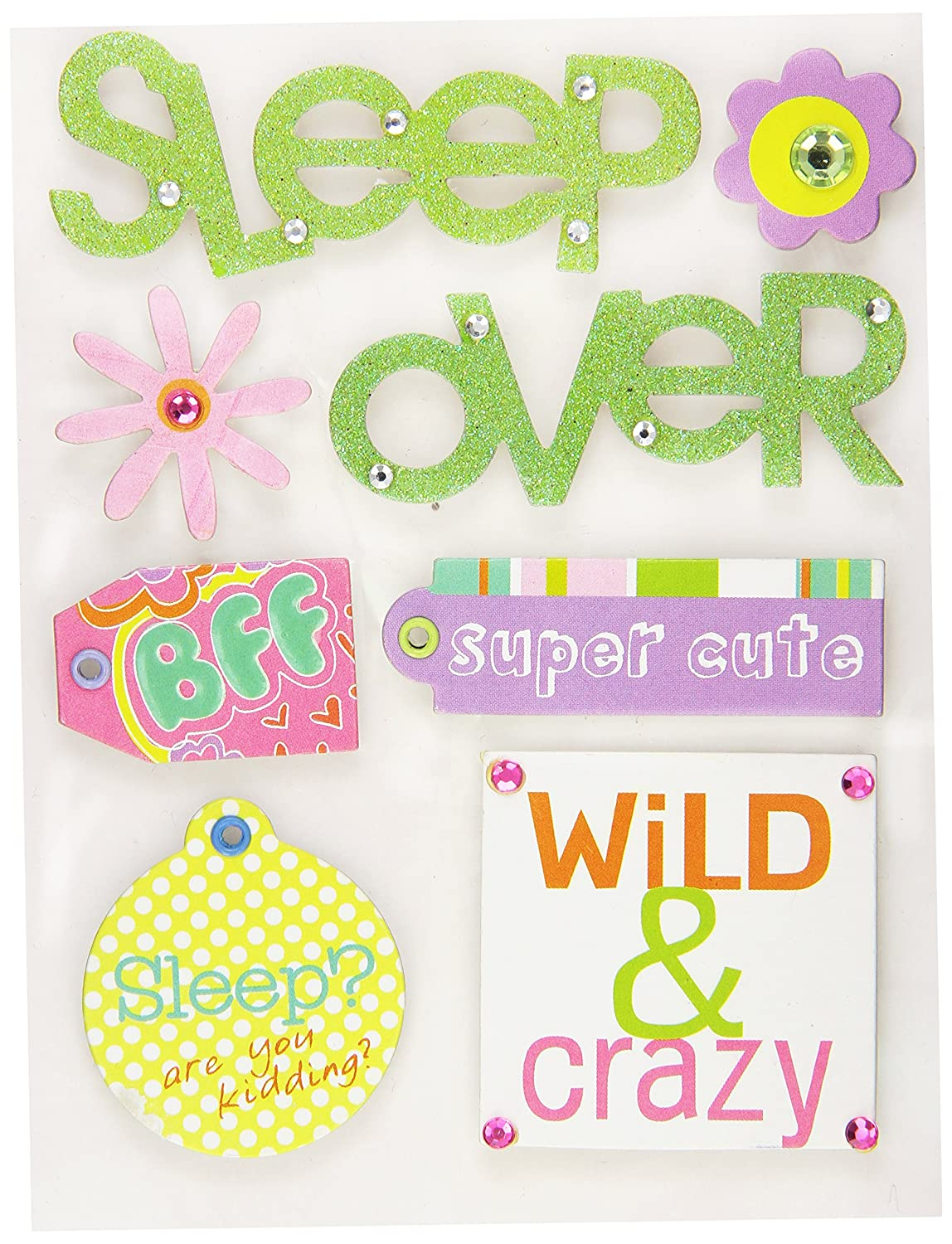 Me & My Big Ideas Soft Spoken Themed Embellishments, Allison Sleep Over