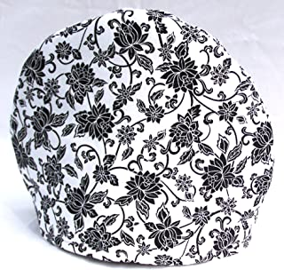 Handmade Fabric Tea Cozy - Lined and Padded Cosy - Black and White French Toile Print