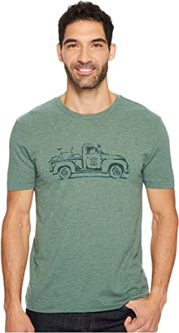 Life is Good - Vintage Truck Bike Cool Tee