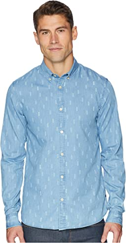 Ams Blauw Regular Fit All Over Print Shirt w/ Seasonal Artwork