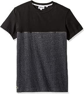 Lacoste Men's Sport Short Sleeve Blocked T-Shirt W Badge at Chest