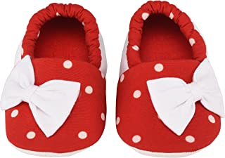 Laughing Girls Clothing Red Polka Dot with Bow Infant Shoes