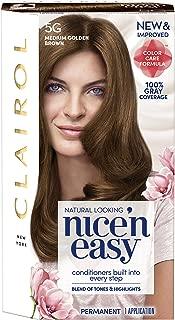 Coty Hair Clairol Nice 'n Easy Permanent Hair Color 5g Medium Golden Brown, 1 Kit, 2.4 Oz
