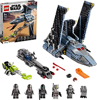 LEGO 75314 Star Wars The Bad Batch Attack Shuttle Building Toy for Kids Age 9+, Set with 5 Clones Minifigures & Gonk Droid...
