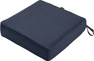 Classic Accessories Montlake Seat Cushion Foam & Slip Cover, Heather Indigo, 23x23x5