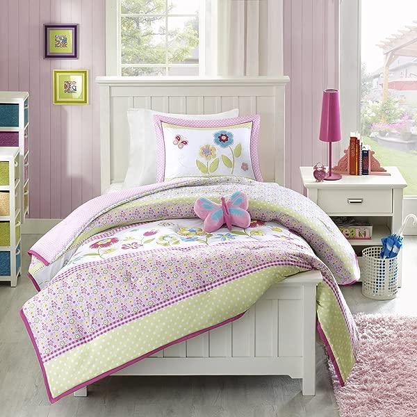 Mizone Kids Spring Bloom 4 Piece Comforter Set Multicolor Full Queen