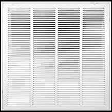 """Sponsored Ad - 20"""" X 20"""" Steel Return Air Filter Grille [Removable Face Door] for 1-inch Filters HVAC Duct Cover Grill, Wh..."""