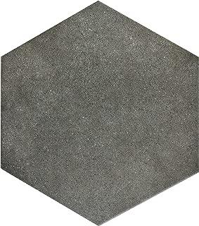 SomerTile FCD10VMX Verema Hex Porcelain Floor and Wall Tile, 8.625