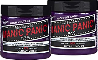 Manic Panic Ultra Violet Purple Color Cream (2-Pack) Classic High Voltage Semi-Permanent Hair Dye - Vivid, Purple Shade For Dark or Light Hair. Vegan, PPD & Ammonia-Free. Ready-to-Use, No-Mix Coloring